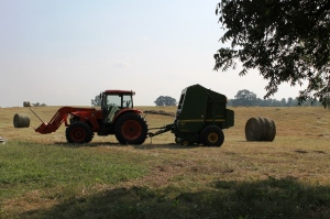 the tractor rests